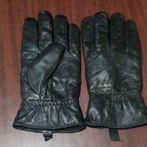 Mens black gloves